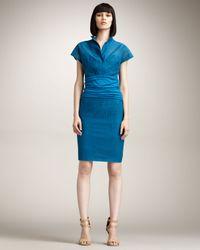 Akris Punto | Blue Cotton Pencil Skirt | Lyst