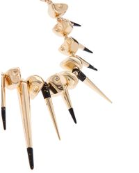 ASOS | Metallic Asos Skull Dipped Spike Collar Necklace | Lyst