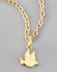 Dogeared | Metallic Dove Charm | Lyst