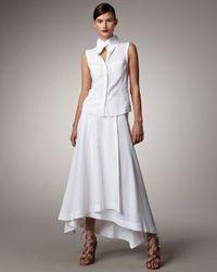 Donna Karan | White Aline Maxi Skirt | Lyst