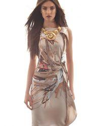 ESCADA | Natural Ribbon-print Dress | Lyst