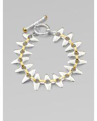 Gurhan | Metallic 24k Gold Sterling Silver Linked Seed Bracelet | Lyst