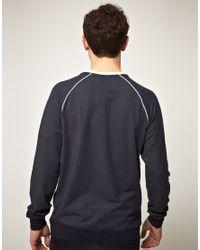 Hummel | Blue Hummel Kangaroo Pocket Crew Sweatshirt for Men | Lyst