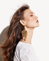 Jose & Maria Barrera | Metallic Gold Filigree Chandelier Earrings | Lyst