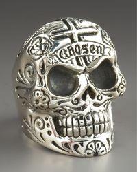 King Baby Studio | Metallic Skull Ring for Men | Lyst