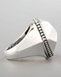 Lagos - Metallic Silver Rocks Angled Ring - Lyst