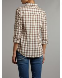 Linea Weekend | Beige Checked Shirt | Lyst