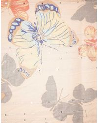 Oasis | Natural Oasis Shadow Butterfly Scarf | Lyst