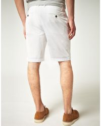 Original Penguin - White Original Penguin Chino Shorts for Men - Lyst