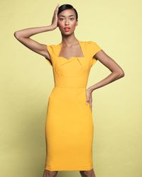 Roland Mouret | Yellow Exclusive Feeny Sheath Dress | Lyst