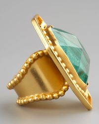 Stephanie Anne | Green Malachite Ring | Lyst