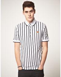 Vivienne Westwood - White Baseball Stripe High Collar Polo Shirt for Men - Lyst