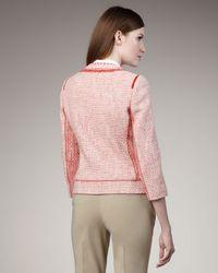 Elie Tahari | Pink Fabiana Tweed Jacket | Lyst