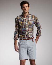 Polo Ralph Lauren | Blue Bradbury Seersucker Cotton Shorts for Men | Lyst