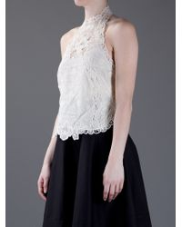 Ralph Lauren | White Embroidered Vest Top | Lyst