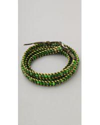 Chan Luu - Green Beaded Wrap Bracelet - Lyst