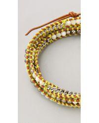 Chan Luu - Yellow Beaded Wrap Bracelet - Lyst