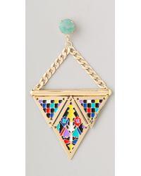 Noir Jewelry - Multicolor Hacienda Earrings - Lyst