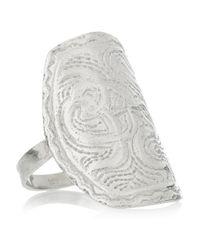 Aurelie Bidermann | Metallic Silver Coiled Snake Ring | Lyst