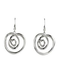 Breil | Metallic Curled Knot Stainless Steel Earrings | Lyst
