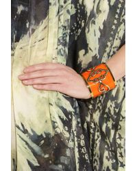 Emilio Pucci - Orange Goldplated Plexiglass Cuff - Lyst