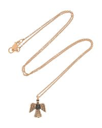 Ileana Makri | Pink Eagle 18karat Rose Gold Diamond Necklace | Lyst