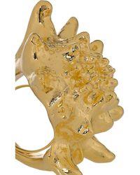 Kenneth Jay Lane - Metallic 22karat Goldplated Shell Ring - Lyst