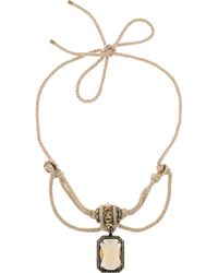 Lanvin - Natural Swarovski Crystal Rope Necklace - Lyst