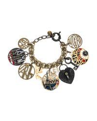 Lanvin | Metallic Swarovski Crystal Charm Bracelet | Lyst