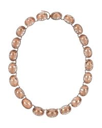 Larkspur & Hawk | Brown Lily Riviere 22karat Rose Golddipped Topaz Necklace | Lyst