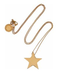 Stella McCartney | Metallic Polished Goldtone Star Necklace | Lyst