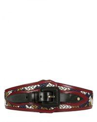 Burberry Prorsum | Multicolor High Waisted Calfskin Belt | Lyst