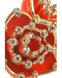 Roberto Cavalli | Metallic Gold-Plated Swarovski Crystal Ring | Lyst