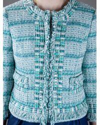 Tory Burch | Blue Marion Ribbon Tweed Jacket | Lyst