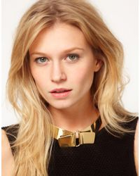 ASOS | Metallic Asos Brass Collar | Lyst