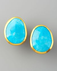 Gurhan - Blue Turquoise Stud Earrings - Lyst