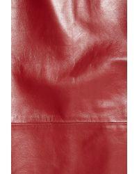 Tibi - Purple Leather Pencil Skirt - Lyst