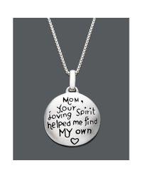 Eci - Metallic Sterling Silver Mom Pendant - Lyst