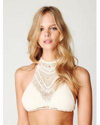 Free People | Natural Crochet Bikini Bottoms | Lyst