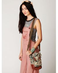 Free People | Brown Ranger Washed Bucket Bag | Lyst