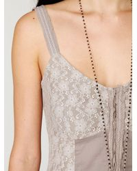 Free People - Natural Lacey Corset Dress - Lyst