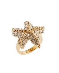J.Crew | Metallic Crystal Starfish Ring | Lyst
