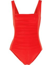 Melissa Odabash | Red Milano One-piece Wide-strap Swimsuit | Lyst