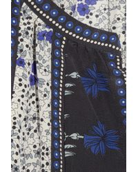 Rebecca Taylor | Blue Printed Silk Blouse | Lyst
