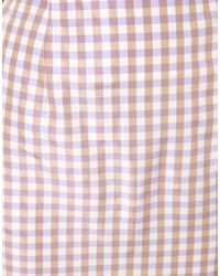 ASOS Collection - Pink Asos Petite Exclusive Gingham Skirt - Lyst