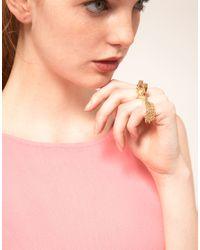 Disaya - Metallic Disaya Gold Cat Ring - Lyst