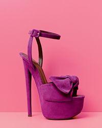 Giuseppe Zanotti | Purple Bow-detail Platform Sandal | Lyst