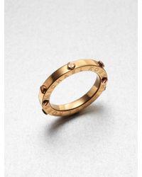Michael Kors - Metallic Rivet Accented Ring Rose Goldtone - Lyst