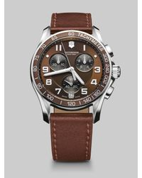 Victorinox | Brown Chrono Classic Watch | Lyst