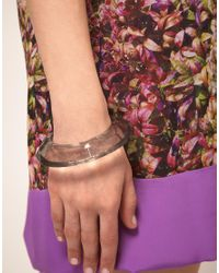 Ted Baker - Gray Acrylic 'Youre A Gem' Bangle - Lyst